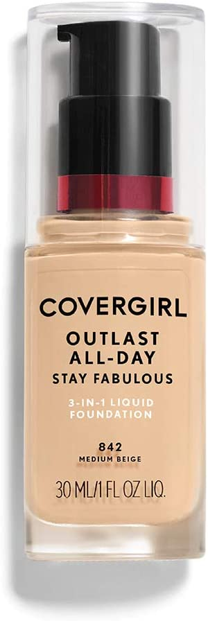 COVERGIRL Outlast All-Day Stay Fabulous 3-in-1 Foundation Medium Beige