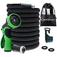 CinchWares Expandable Garden Hose 50 FT; Heavy Duty with...
