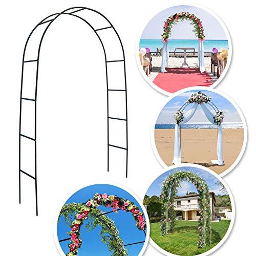 BenefitUSA 7.9ft Steel Garden Arch Arbor Climbing Plant Flower Wedding Frame Lawn