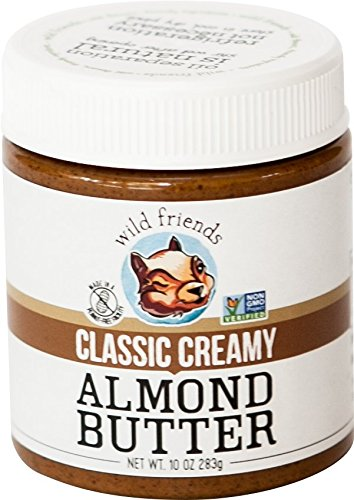 Wild Friends Foods Almond Butter, Classic Creamy, 10 oz Jar Butter 10 Oz Jar