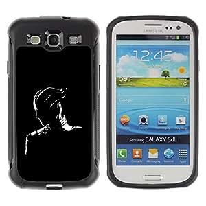 Suave TPU GEL Carcasa Funda Silicona Blando Estuche Caso de protección (para) Samsung Galaxy S3 III I9300 / CECELL Phone case / / Black & White Fantasy Character /