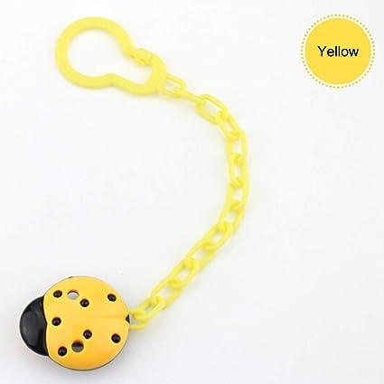 Mioloe Pinzas para chupete, diseño de mariquita Pinzas para chupete, que se adaptan a TODOS los chupetes y chupetes: regalo perfecto para bebés