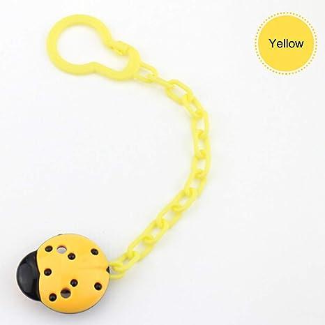 SELUXU Pinzas para chupete, diseño de mariquita Pinzas para chupete, que se adaptan a TODOS los chupetes y chupetes: regalo perfecto para bebés