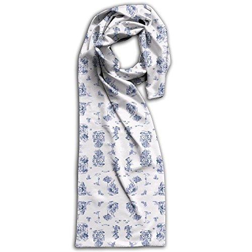 AliceToile-BLUE Background Wallpaper - Avelis - Spoonflower(2) Winter Scarves Lightweight Warm Towel Stylish Shawl Scarf - Burberry Hat Men