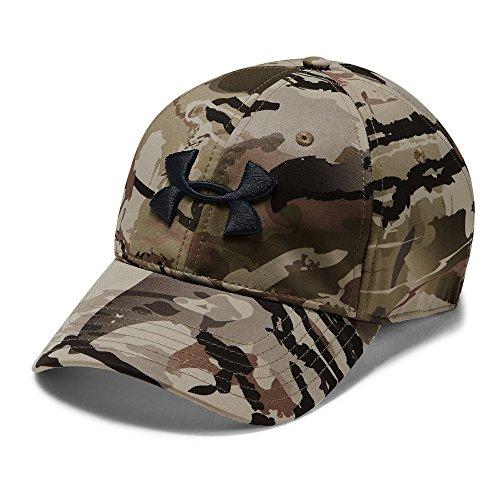 Under Armour Men's Camo Stretch Fit Cap, Ua Barren Camo (999)/Black, Large/X-Large