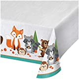 Wild One Woodland Plastic Tablecloths, 3 ct