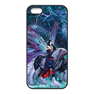 iPhone 4 4s Cell Phone Case Black Ride of the Yokai Fairy and Dragon Qolnx