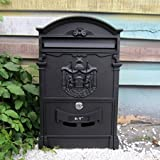 Hunter Cast Iron Vintage Colonial Style Mailboxes Verde