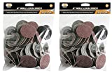 IIT 82043 Roll Lock Style 240 Grit Sanding Disc, 50-Piece (2 Pack)