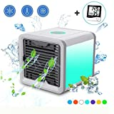Georsh9 Personal Space Air Conditioner Humidifier and Air Purifier - Portable Space Cooler for 45 Square Feet with 3 Speeds – Fast to Cool and Clean air for Desk Office and Camping As Seen On TV