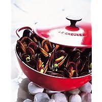 Olla para sopa de hierro fundido con tapa Color: Cereza, Tamaño: 2.75 qt.