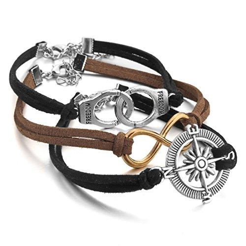 INBLUE Genuine Bracelet Handcuff Infinity