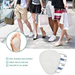 """NATARIFITNESS..COM  51ETHax7-GL._SS150_ 12-Pack Metatarsal Foot Pads for Pain Relief - 1/4"""" Thick, Ball of Foot Cushions for Women and Men, Forefoot and Sole…"""