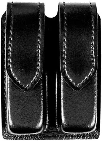 B003YD5INY Safariland Duty Gear S and W M and P 45, Hidden Snap Double Handgun Magazine Pouch (Plain Black) 51ETHiF3RAL