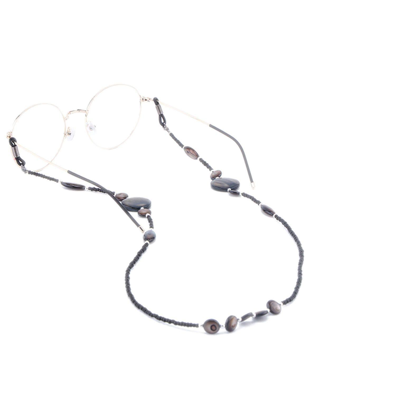 10 Pcs Shell Beads Glass Chain Eyeglass Strap Lanyard Holder Non Slip Sunglasses Reading Glasses Cords Eyewear Retainer