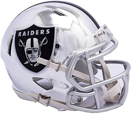 iddell Oakland Raiders Chrome Alternate Speed Mini Football Helmet - NFL Mini Helmets ()