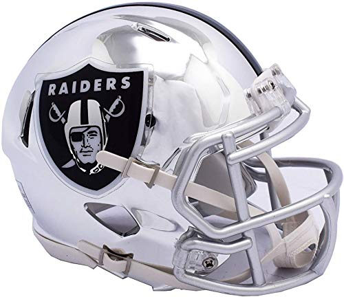 Riddell Oakland Raiders Chrome Alternate Speed Mini Football