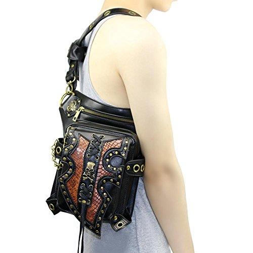 sbzll Punk Motorrad Bag Schulter Umhängetasche weiblich Multifunktions-Handy Taschen