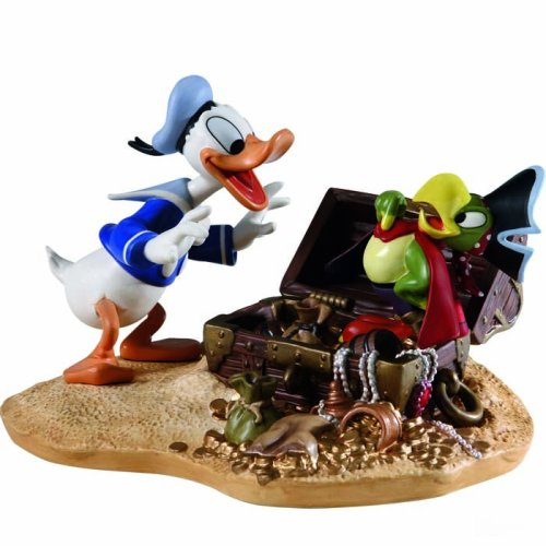 Wdcc Donald Duck - Disney WDCC ''Pirate Gold'' Donald Duck & Yellow Beak Figurine