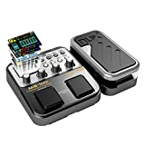 MG-100 Multi-Effects Pedal Professional Processor with 58 Drum Types 55 Effect Mode 40s Looping 10 Sounds 3 EQ Tuner for Electric Guitar and Bass UK Plug