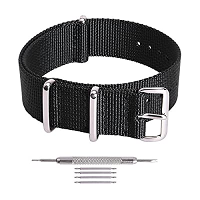 Ritche Premium NATO Strap 18mm 20mm 22mm Nylon Replacement Watch Band for Men Women by Ritche
