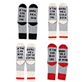 #7: IF YOU CAN READ THIS Funny Saying Knitting Word Combed Cotton Crew Wine Coffee Beer Socks for Men Women