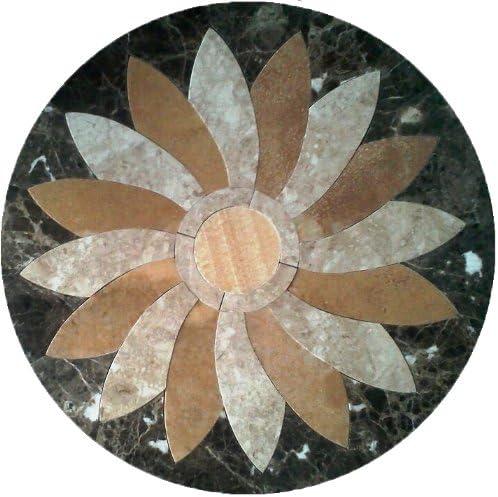 "Tile Floor Medallion Marble Mosaic Flower Design 30"" - - Amazon.com"