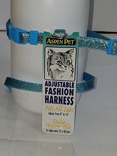 Aspen Pet nylon fully adjustable fashion cat harness fits most cats (Aspen Pet Nylon Cat Collar)