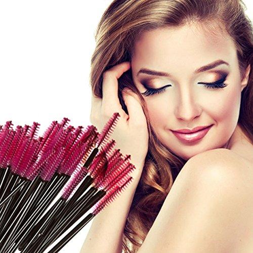 50 Pcs Disposable Eyelash Mascara Wands Makeup Brush Set Cos