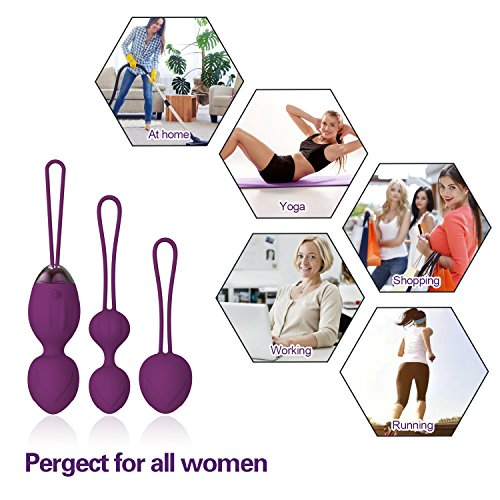 Y.Love 2 in 1 Kegel Exercise Weights & Massage Ball Ben Wa Balls Sets - Doctor Recommended Kegel Balls for Beginners & Advanced for Pelvic Floor Exercises & Tightening ... ... ...