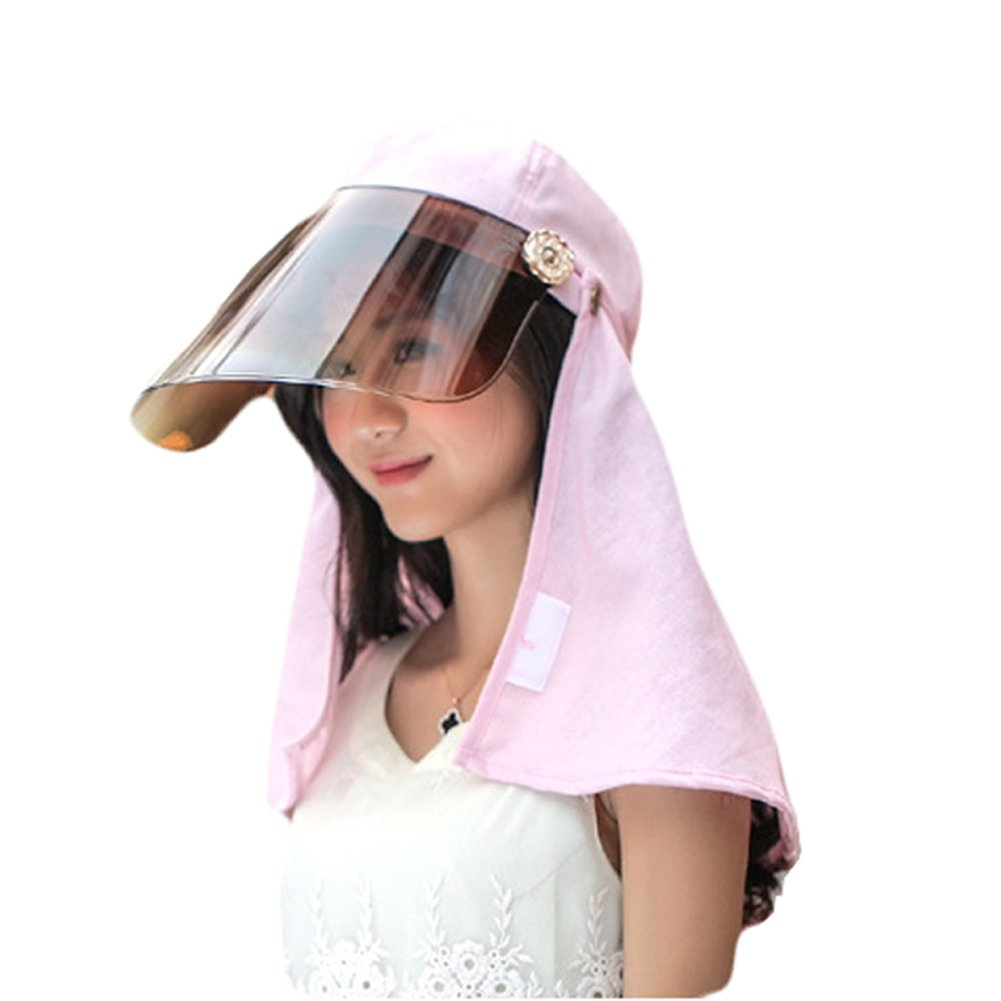 New Anti-UV Sun hat Face&Neck Protection Visor Cap Hiking Outdoor Hat