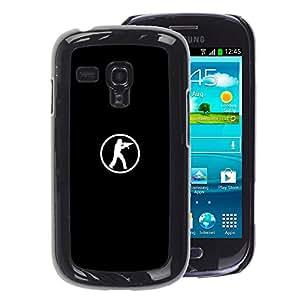 A-type Arte & diseño plástico duro Fundas Cover Cubre Hard Case Cover para Samsung Galaxy S3 MINI 8190 (NOT S3) (Computer Game Go Fps Shooter)