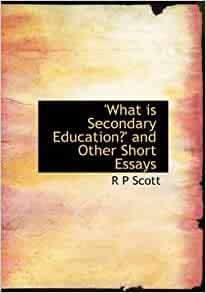 Short essays on education