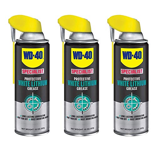 - WD-40 Specialist White Lithium Grease Spray Metal on Metal Lubricant (3 Pack)