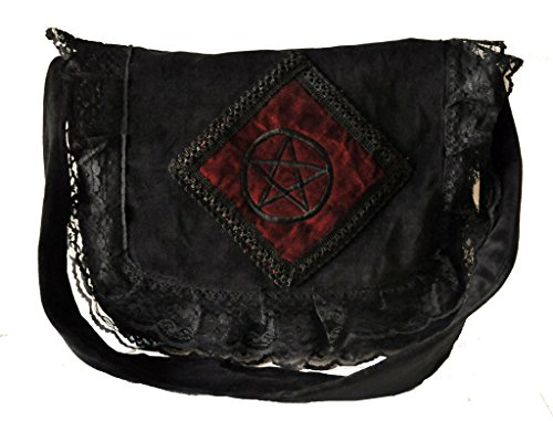 Gothic Victorian Renaissance Girls Punk Vintage Vamp Black College Shoulder Bag ()