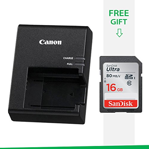 Canon EOS Rebel T6 DSLR OEM Genuine Charger LC-E10 Compact Camera Battery Charger for LP-E10 Battery Pack With Free SanDisk SD Card 16GB Class 10 (Best Price On Canon Eos Rebel T3i)