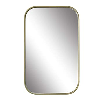 Amazon Com Bathroom Mirrors Rounded Rectangular Wall Mirror