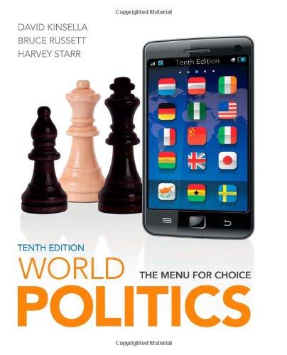 World Politics: The Menu for Choice (Contemporary Menu Holder)
