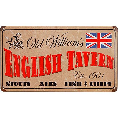 Old Tavern Sign - Old William's English Tavern Metal Vintage Beer Sign