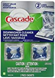 Cascade Dishwasher Cleaner, Fresh Scent, 2 Count (Pack of 2) Total 4 Pacs