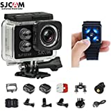SJCAM SJ7 Star Kit SJ7 Camera with Accessories, SJCAM Remote Watch Real 4K Action Camera Wifi Waterproof Underwater Camera Ambarella Chipset 30FPS/Sony Sensor 12MP Gyro Stabilization-Black