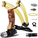 COOY Y Shot Slingshot,Wrist Sling Rocket Professional Hunting Slingshot with Heavy Duty Launching Bands, High Velocity Catapult …