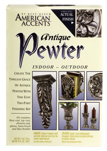 Rust-Oleum 7983955 2-Part Decorative Finishes Half Pint and Spray Kit Antique Pewter