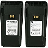 MOTOROLA Orignal OEM NNTN4497CR Double Pack 7.2 Volts LI-ION 1.8Ah High Capacity Battery for Motorola CP-200 Walkie Talkie CP200 EP-450 EP450 CP-150 CP-250 CP150 CP250 PR400 PR-400 Original Motorola Battery