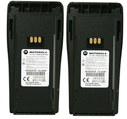 Motorola Li Ion Battery (MOTOROLA Orignal OEM NNTN4497CR Double Pack 7.2 Volts LI-ION 1.8Ah High Capacity Battery for Motorola CP-200 Walkie Talkie CP200 EP-450 EP450 CP-150 CP-250 CP150 CP250 PR400 PR-400 Original Motorola Battery)