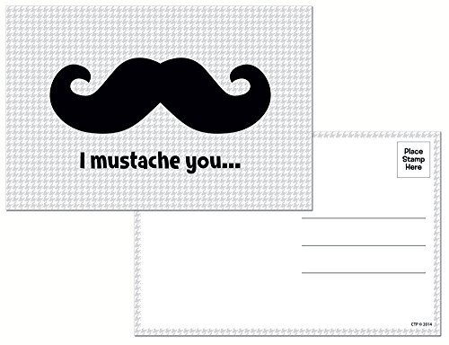 Creative Teaching Press I Mustache You... Post Cards (4804) - Stache Mens Short