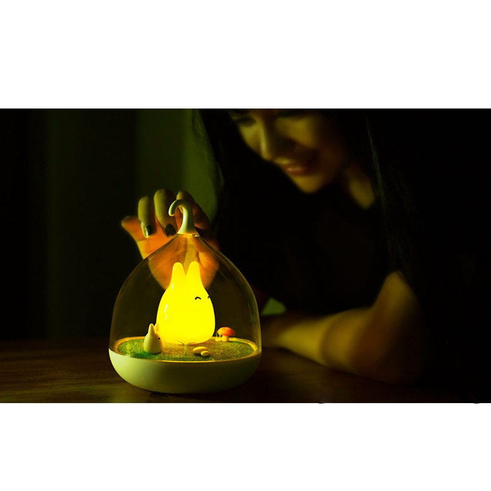 Blue Fding Birdcage Childrens Night Lights Tap Sensor Vibration Rechargeable Dimmable Lamp Hand-held Design Portable Night Lamp with USB Charging Cable for Kids//Babys as Gifts
