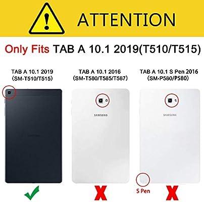 EasyAcc Funda para Samsung Galaxy Tab A 10.1 2019, Ultra Slim PU ...