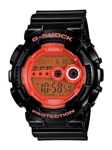 Casio Men's GD100HC-1 G-Shock Black and orange Multi-Function Digital Watch