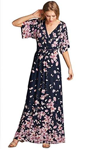 kimono sleeve v neck dress - 4